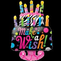 """36"""" Make a Wish Cake Balloon in a Box"""