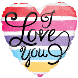 I Love You Watercolour  Balloon in a Box