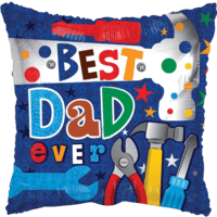 "18"" Best Dad Tools Balloon in a Box"