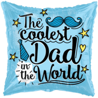 """18"""" The Coolest Dad Balloon in a Box"""