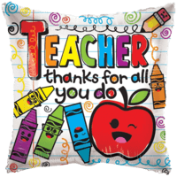 "18"" Thanks for All You Do Teacher Balloon in a Box"