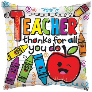 "18"" Thanks for All You Do Teacher Balloon in a Box"