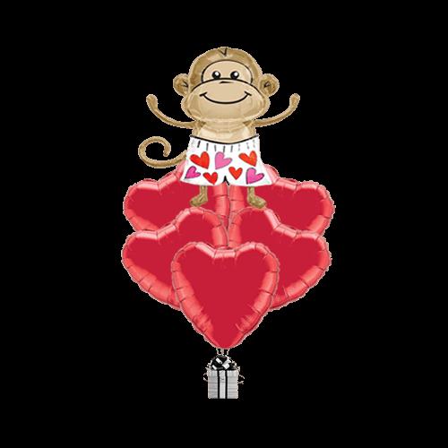 Cheeky Monkey Hearts