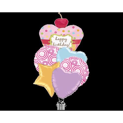 Vibrant Cherry Cupcake