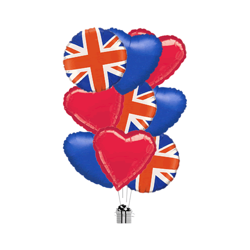Union Jack Hearts and Stars