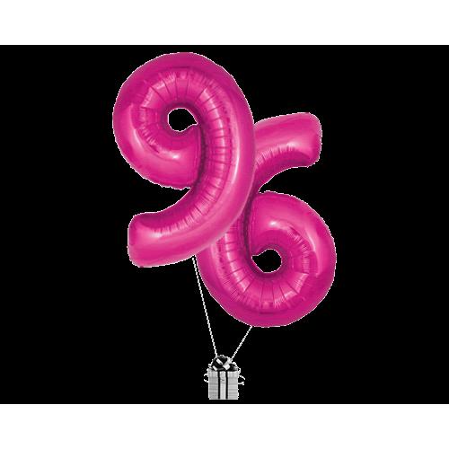 Pink 96 Big Numbers