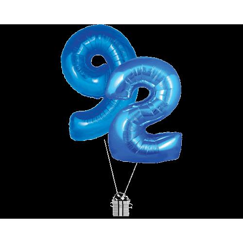 Blue 92 Big Numbers