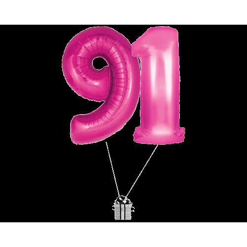 Pink 91 Big Numbers