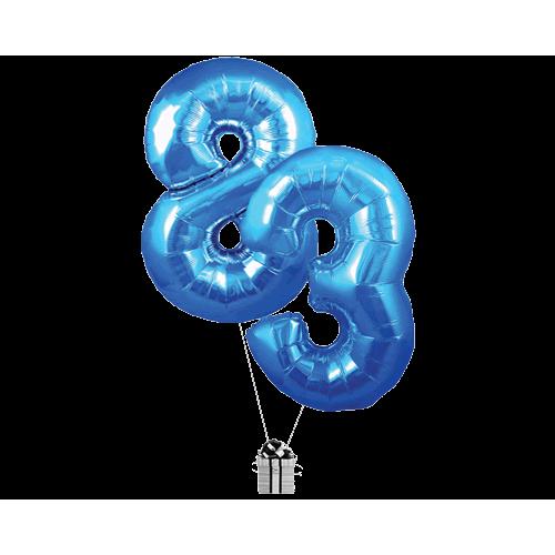 Blue 83 Big Numbers