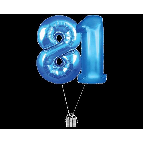 Blue 81 Big Numbers