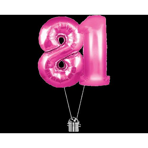Pink 81 Big Numbers
