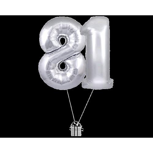 Silver 81 Big Numbers