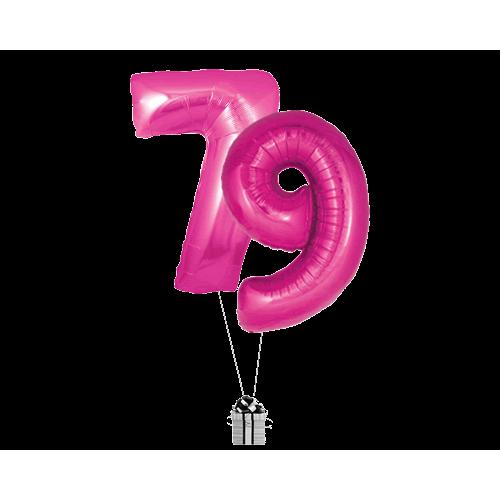 Pink 79 Big Numbers