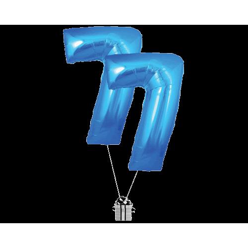 Blue 77 Big Numbers