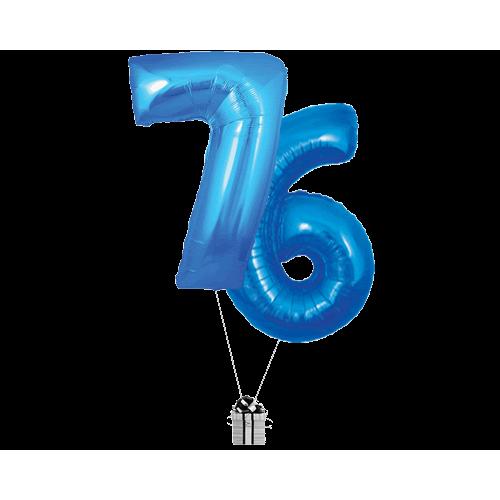 Blue 76 Big Numbers