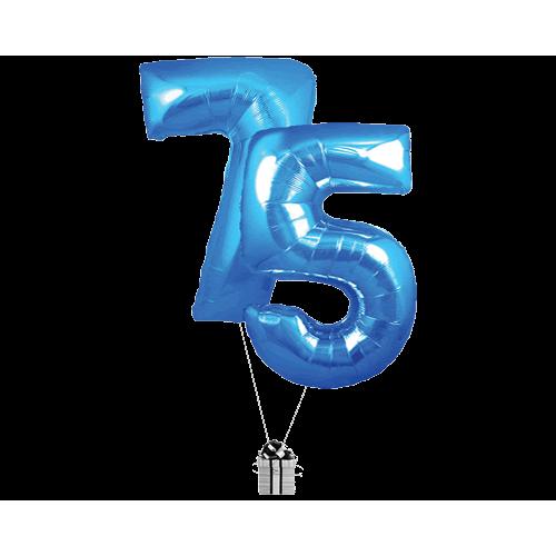 Blue 75 Big Numbers