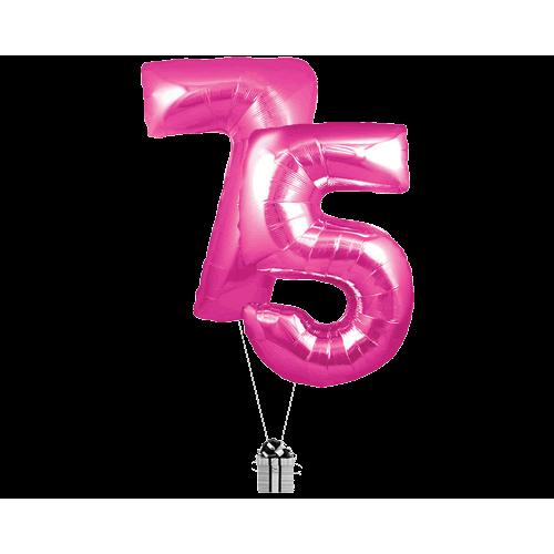 Pink 75 Big Numbers