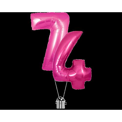 Pink 74 Big Numbers