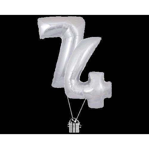 Silver 74 Big Numbers