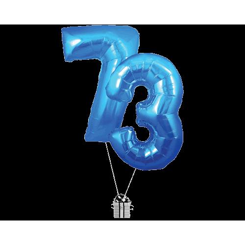 Blue 73 Big Numbers