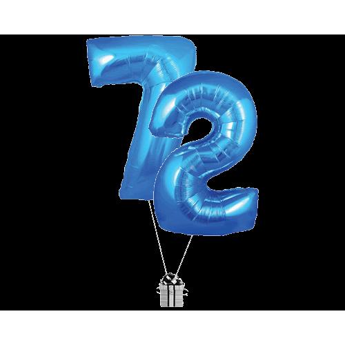 Blue 72 Big Numbers