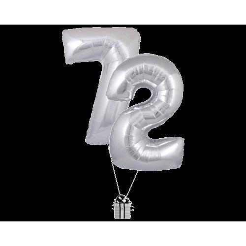 Silver 72 Big Numbers