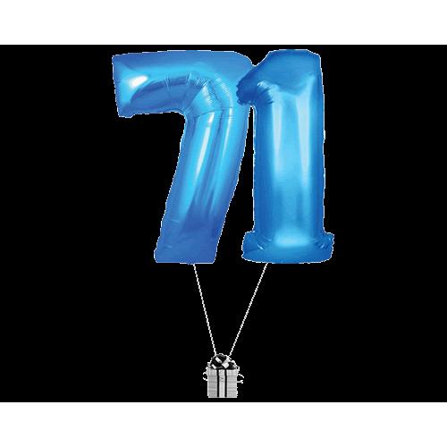 Blue 71 Big Numbers