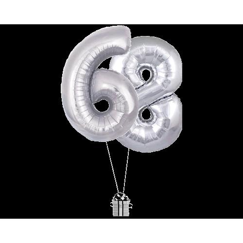 Silver 68 Big Numbers