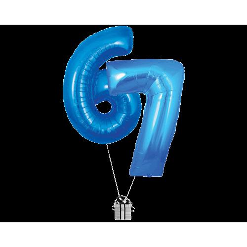 Blue 67 Big Numbers