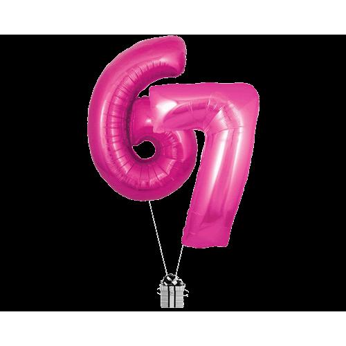Pink 67 Big Numbers