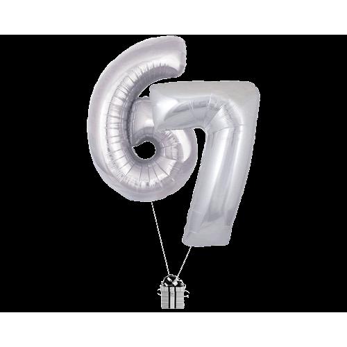 Silver 67 Big Numbers