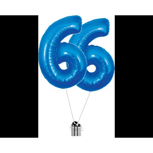 Blue 66 Big Numbers