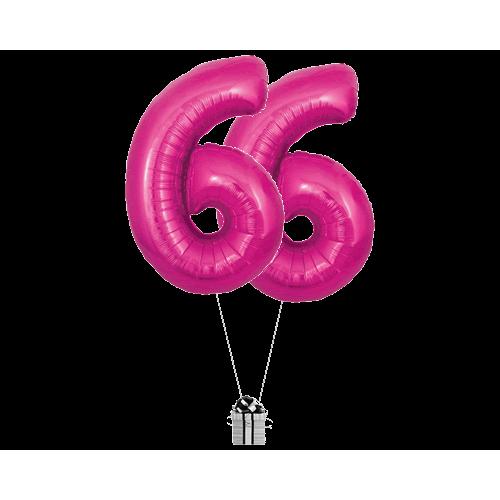 Pink 66 Big Numbers