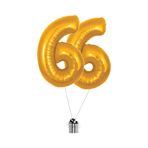 Gold 66 Big Numbers