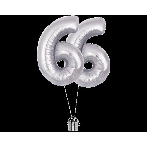 Silver 66 Big Numbers