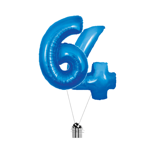 Blue 64 Big Numbers
