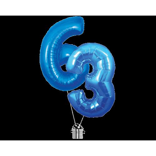 Blue 63 Big Numbers