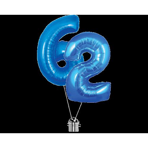 Blue 62 Big Numbers