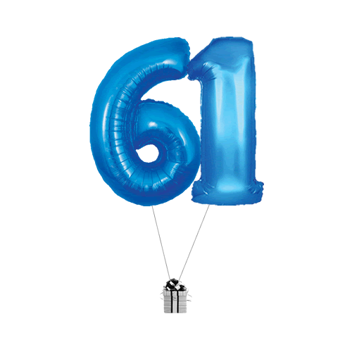 Blue 61 Big Numbers
