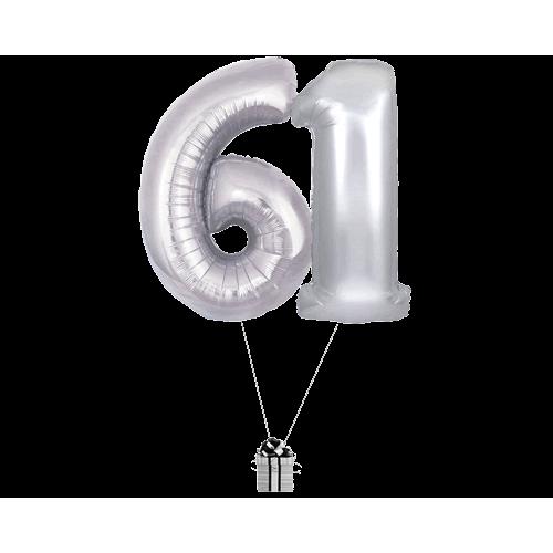 Silver 61 Big Numbers