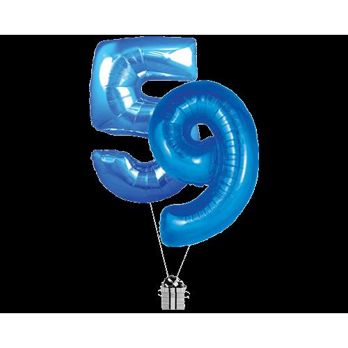 Blue 59 Big Numbers