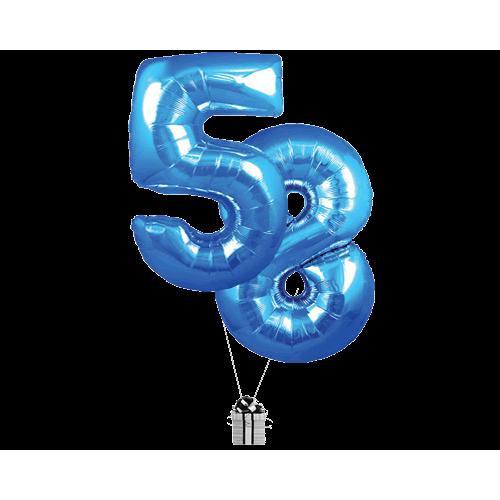 Blue 58 Big Numbers