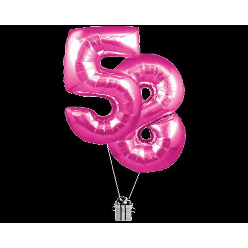Pink 58 Big Numbers