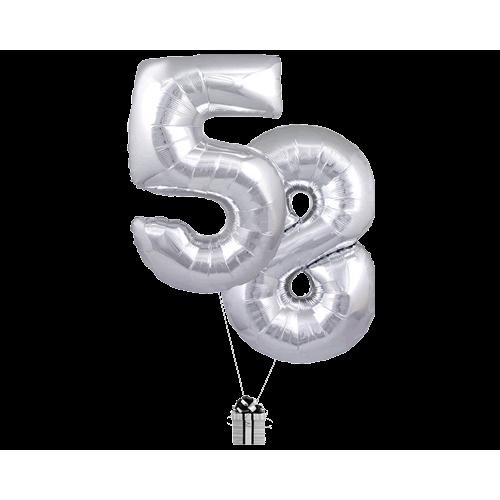 Silver 58 Big Numbers