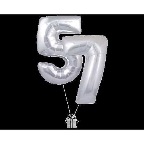 Silver 57 Big Numbers