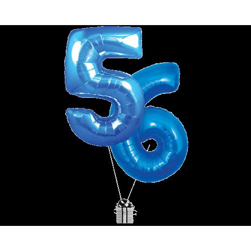 Blue 56 Big Numbers