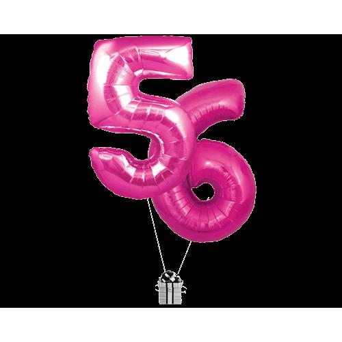 Pink 56 Big Numbers