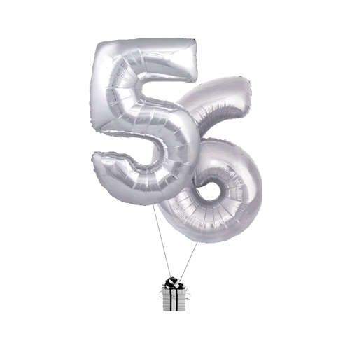 Silver 56 Big Numbers
