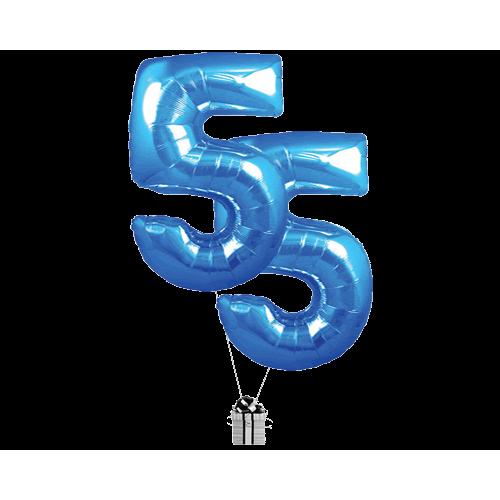Blue 55 Big Numbers
