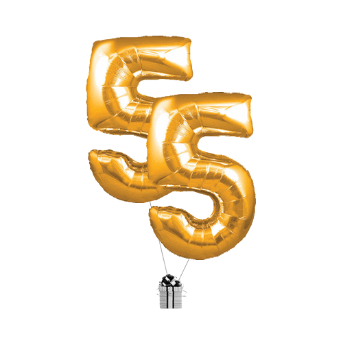 Gold 55 Big Numbers